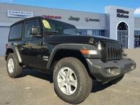 This 2018 Jeep Wrangler 2dr Sport S 4x4 features a 3.6L