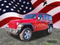Clean CARFAX. Firecracker Red Clearcoat 2018 Jeep