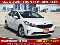 Clean CARFAX. White 2018 Kia Forte LX 4D Sedan FWD