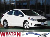 CARFAX One-Owner. 2018 Kia Forte LX White One Owner,