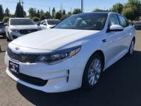 2018 Kia Optima EX White 34/24 Highway/City MPG
