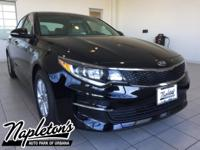 New Price! 2018 Kia Optima in Ebony Black, AUX