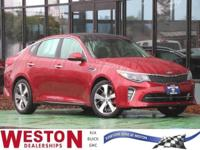 CARFAX One-Owner. 2018 Kia Optima SX Red One Owner,