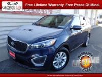This Kia Sorento is a certified CARFAX 1-owner and it