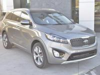 Silver 2018 Kia Sorento SX FWD 6-Speed Automatic with
