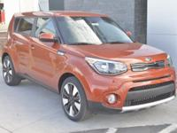 Orange 2018 Kia Soul Plus FWD 6-Speed Automatic with
