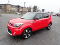 Get ready to go for a ride in this 2018 Kia Soul +,