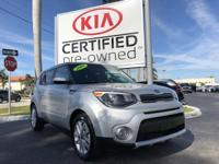 CARFAX One-Owner. Certified. Bright Silver 2018 Kia
