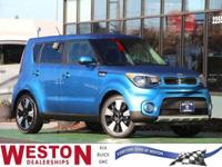 CARFAX One-Owner. 2018 Kia Soul Plus Blue 17 Alloy