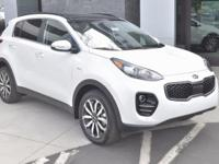 White 2018 Kia Sportage EX AWD 6-Speed Automatic