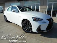 Delivers 26 Highway MPG and 19 City MPG! This Lexus IS