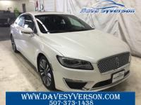 White Platinum 2018 Lincoln MKZ Reserve AWD 6-Speed