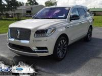 Ivory Pearl 2018 Lincoln Navigator Select RWD 10-Speed