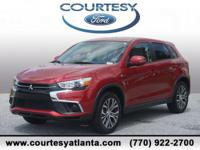This 2018 Mitsubishi Outlander Sport ES in Red