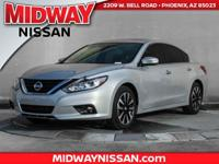 2018 Nissan Altima 2.5 SV CVT with Xtronic. 38/27