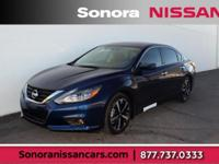 Deep Blue Pearl 2018 Nissan Altima 2.5 SR FWD CVT with