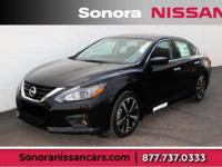 Super Black 2018 Nissan Altima 2.5 SR FWD CVT with