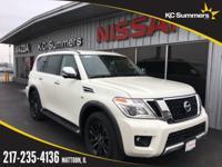 Pearl White 2018 Nissan Armada Platinum 4WD 7-Speed