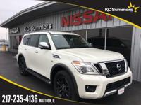 Pearl White 2018 Nissan Armada Platinum 4WD 7-Speed