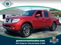 This 2018 Nissan Frontier PRO in Lava Red features: