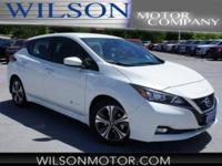 Pearl White 2018 Nissan Leaf SV FWD Single Speed