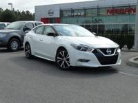 Pearl White 2018 Nissan Maxima 3.5 SL FWD CVT Priced
