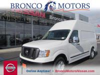 This Nissan NV Cargo delivers a Regular Unleaded V-8