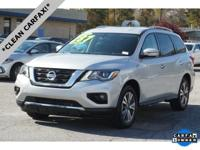 Brilliant Silver 2018 Nissan Pathfinder SV FWD CVT with