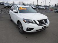 Recent Arrival! This 2018 Nissan Pathfinder SL in White