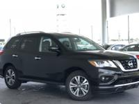 Black 2018 Nissan Pathfinder SL FWD CVT with Xtronic V6