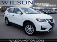 Glacier White 2018 Nissan Rogue S AWD CVT with Xtronic