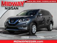2018 Nissan Rogue S 33/26 Highway/City MPG  Options:  4