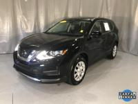 Certified. Magnetic Black 2018 Nissan Rogue S FWD CVT