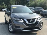 2018 Nissan Rogue SV Gray 32/25 Highway/City MPG Clean