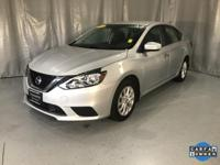 Certified. Brilliant Silver 2018 Nissan Sentra SV FWD