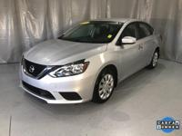 Certified. Brilliant Silver 2018 Nissan Sentra S FWD