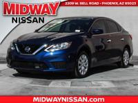 2018 Nissan Sentra S CVT with Xtronic, Charcoal.