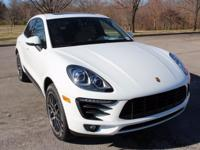 2018 Porsche Macan S in White with Black / Beige two