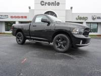 2WD BLACK RAM EXPRESS GROUP REGULAR CAB! YOUR SEARCH