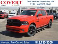 Flame Red Clearcoat 2018 Ram 1500 Sport 4WD 8-Speed