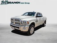 Pearl White 2018 Ram 2500 Laramie 4WD 6-Speed Automatic