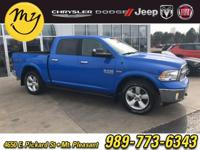 Options:  2018 Ram 1500|Blue|Carfax One-Owner. Clean