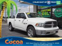 This 2018 Ram 1500 SLT in White features: Clean Carfax