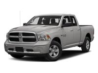 This 2018 Ram 1500 SLT features a 3.6L V6 Cylinder 6cyl