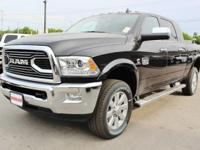 Turn heads in this LUXURIOUS bold black 2018 Ram 2500