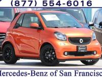 Lava Orange 2018 smart Fortwo electric drive RWD