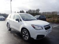 2018 Subaru Forester Crystal White Pearl 2.5i It's our