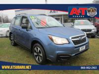 Clean CARFAX. Quartz Blue Pearl 2018 Subaru Forester
