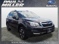 Clean CARFAX. Dark Gray Metallic 2018 Subaru Forester