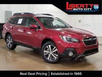 Clean CARFAX. Crimson Red 2018 Subaru Outback 2.5i